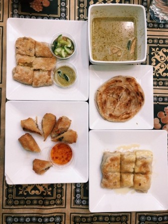 A variety of dishes on the table