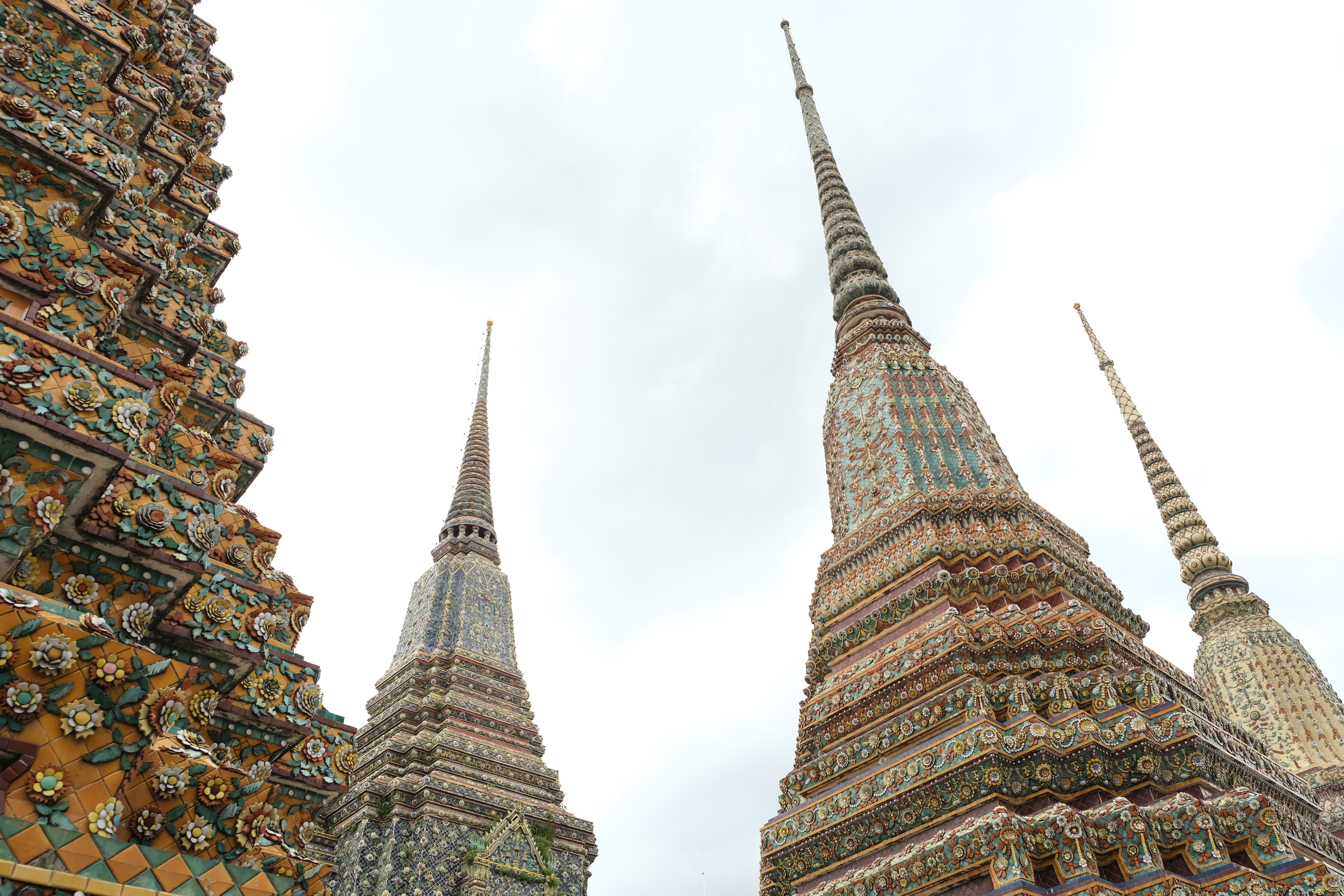 Great Pagodas of Four Kings Wat Pho Bangkok Thailand